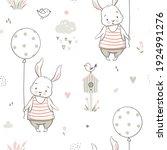 nursery seamless pattern with...   Shutterstock .eps vector #1924991276