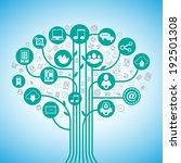 social media tree network... | Shutterstock . vector #192501308