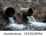 Gutter. Water Runoff From A...