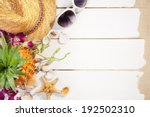 summer holiday setting with... | Shutterstock . vector #192502310