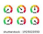 risk meter. risk concept on... | Shutterstock .eps vector #1925023550