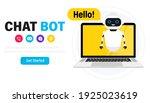 chatbot in laptop. online...