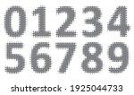 vector halftone dots numbers... | Shutterstock .eps vector #1925044733