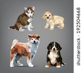 set of origami style dogs....   Shutterstock .eps vector #192504668