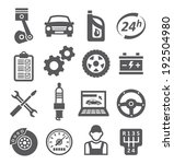 auto service icons   Shutterstock . vector #192504980