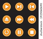 multimedia button icons. great... | Shutterstock .eps vector #1925060690