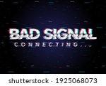 bad no signal broken screen... | Shutterstock .eps vector #1925068073