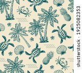 vintage monochrome tropical... | Shutterstock .eps vector #1925082353