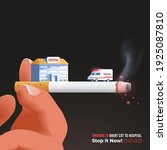 stop smoking cigarettes poster...   Shutterstock .eps vector #1925087810