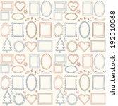 seamless doodle frame set.... | Shutterstock .eps vector #192510068