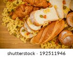 bread and grains foods high in... | Shutterstock . vector #192511946