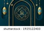 ramadan kareem background with... | Shutterstock .eps vector #1925122403