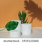 empty cosmetics podiums on... | Shutterstock . vector #1925123360