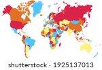 world map color vector modern.... | Shutterstock .eps vector #1925137013