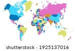 world map color vector modern.... | Shutterstock .eps vector #1925137016