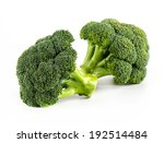fresh broccoli isolate on white ... | Shutterstock . vector #192514484