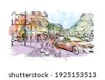 building view with landmark of... | Shutterstock .eps vector #1925153513