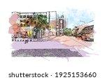 building view with landmark of... | Shutterstock .eps vector #1925153660