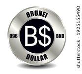brunei money icon isolated on... | Shutterstock .eps vector #1925155490