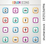 public transport icon set for... | Shutterstock .eps vector #1925156996