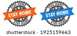 stay home grunge stamp set.... | Shutterstock .eps vector #1925159663