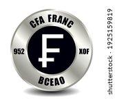 cfa money icon isolated on... | Shutterstock .eps vector #1925159819