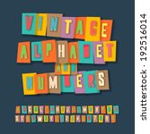vintage alphabet and numbers ... | Shutterstock .eps vector #192516014