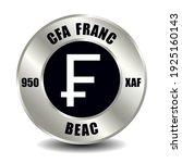 cfa money icon isolated on... | Shutterstock .eps vector #1925160143