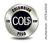 colombia money icon isolated on ... | Shutterstock .eps vector #1925162033