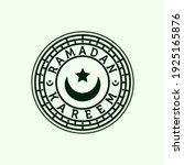 islamic line art logo vector... | Shutterstock .eps vector #1925165876