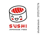 sushi roll icon. japanese food... | Shutterstock .eps vector #1925175176
