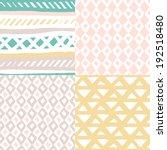 seamless basic pastel geometric ... | Shutterstock .eps vector #192518480