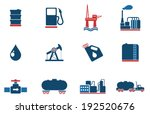 oil and petrol industry objects ... | Shutterstock .eps vector #192520676