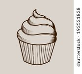 graphic cream cake isolated on... | Shutterstock . vector #192521828