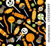 happy halloween sweets pattern. ...   Shutterstock .eps vector #1925240849