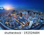 Bangkok City Night View With...
