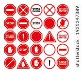 a set of restrictive and... | Shutterstock .eps vector #1925247389