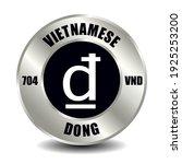 vietnam money icon isolated on... | Shutterstock .eps vector #1925253200