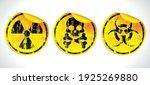 danger grunge vector signs... | Shutterstock .eps vector #1925269880