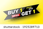 special offer buy 1  free get 1 ... | Shutterstock .eps vector #1925289713