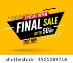 final sale banner  special... | Shutterstock .eps vector #1925289716