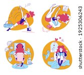 colorful vector illustrations... | Shutterstock .eps vector #1925306243