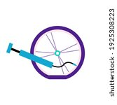 flat tire bicycle wheel.... | Shutterstock .eps vector #1925308223