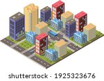 isometric city vector.smart...   Shutterstock .eps vector #1925323676
