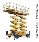 a yellow scissors lifting... | Shutterstock . vector #192536006