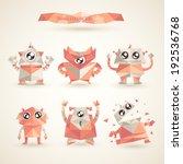 cute characters robot set... | Shutterstock .eps vector #192536768