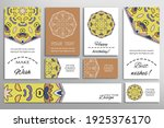 big set of greeting cards or... | Shutterstock .eps vector #1925376170