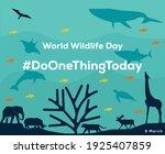 world wildlife day poster... | Shutterstock .eps vector #1925407859