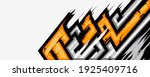 rally car decal graphic wrap... | Shutterstock .eps vector #1925409716
