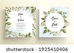 beautiful leaves wedding... | Shutterstock .eps vector #1925410406